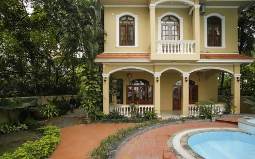 Villa for rent by the river in Thao Dien