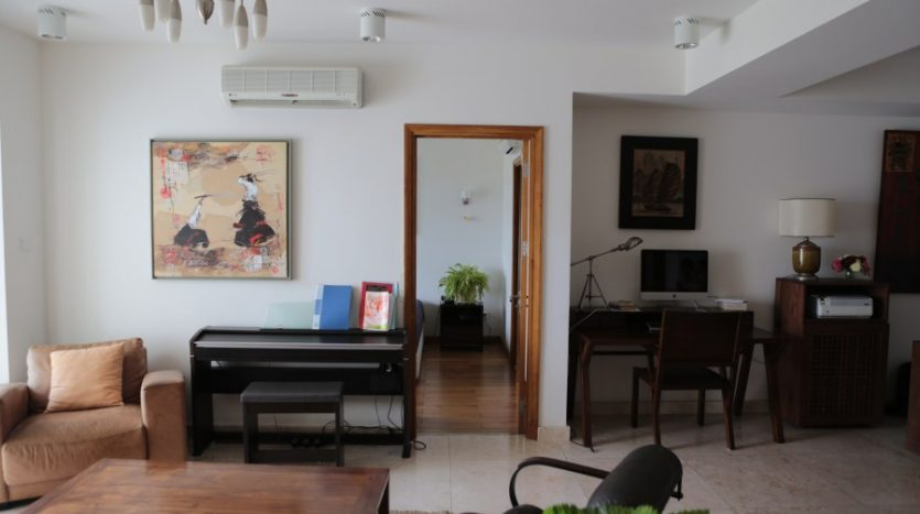 Large furnished apartment with river view in Thao Dien