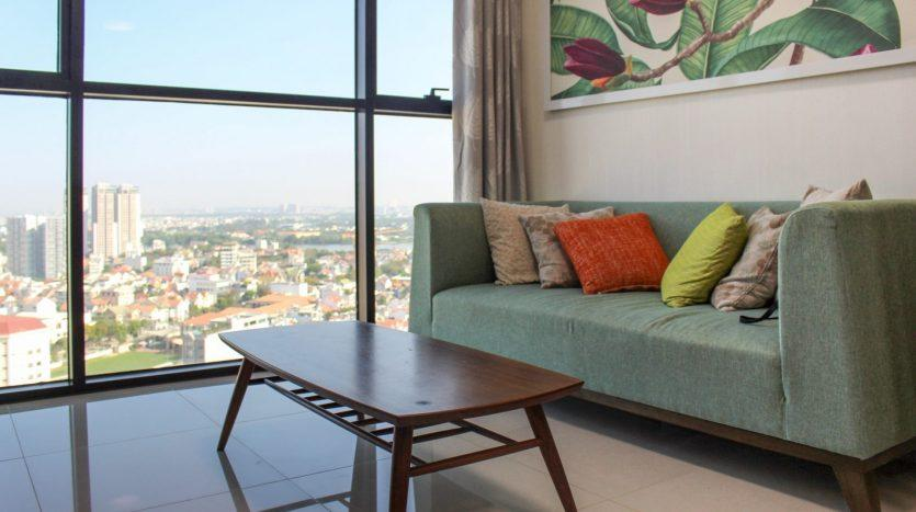 Furnished apartment on high floor with view in Saigon