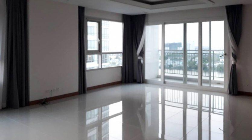 Unfurnished flat with river view in Saigon
