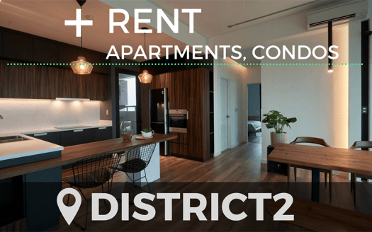 Apartment for rent in Thao Dien and An Phu district 2 HCMC