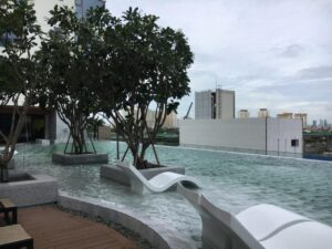 Swimming pool at the Gateway Thao Dien