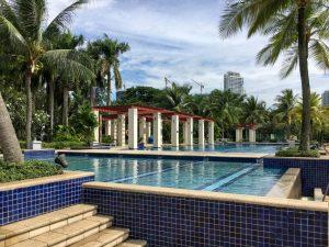 Villa Riviera compound long swimming pool