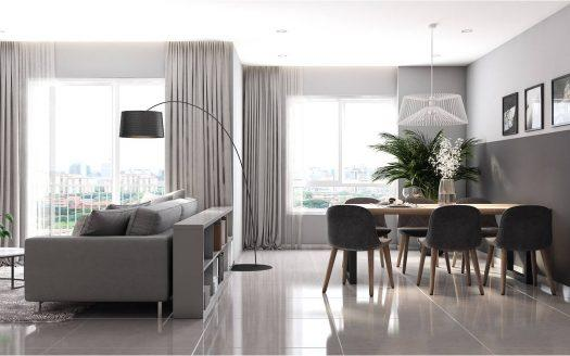 ID: 1073 | Grand Riverside in HCMC District 4: 3-bedroom apartment for rent 6