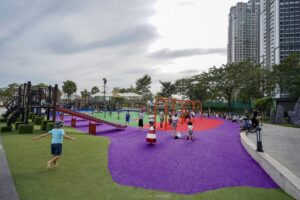 Playground in Vinhomes Central Park in Ho Chi Minh City