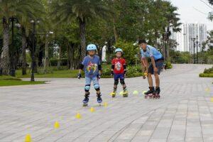 Roller blade Central Park in Ho Chi Minh City