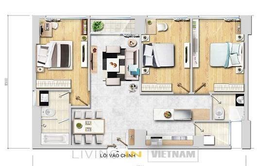 3 bedroom apartment New City