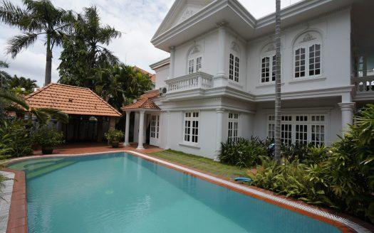 Luxury villa in Thao Dien with private pool and large garden