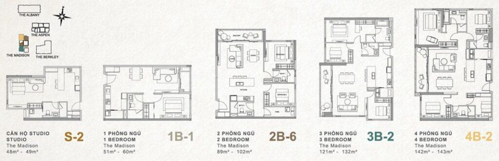 Apartment types at Gateway